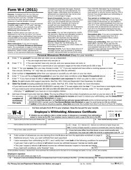 Form W-4 (2008)