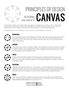 CANVAS  PRINCIPLES OF DESIGN for building