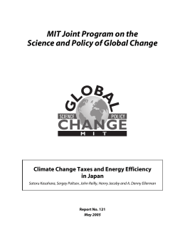 MIT Joint Program on the Science and Policy of Global Change