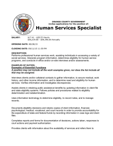 Human Services Specialist