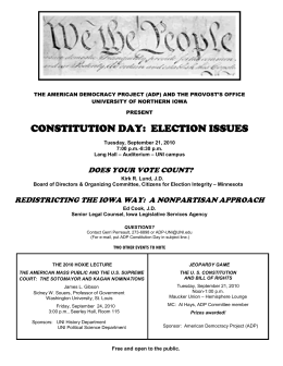 CONSTITUTION DAY: ELECTION ISSUES
