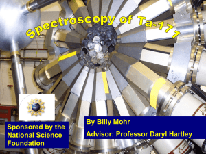 By Billy Mohr Sponsored by the Advisor: Professor Daryl Hartley National Science