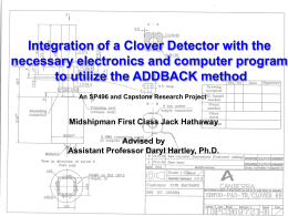 Integration of a Clover Detector with the