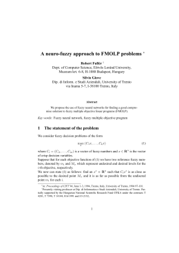 A neuro-fuzzy approach to FMOLP problems