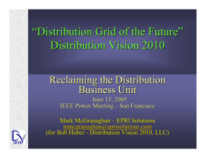 """ Distribution Grid of the Future "" Distribution Vision 2010"