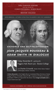 JEan JacquES RouSSEau & adam Smith in dialoguE ExchangE and SElf-falSification: