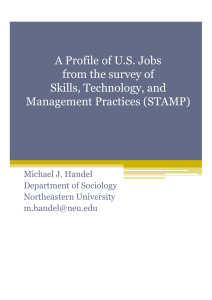 A Profile of U.S. Jobs from the survey of Skills, Technology, and