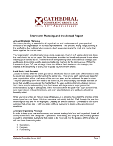 Short-term Planning and the Annual Report