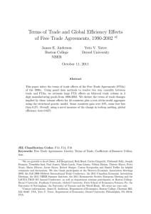 Terms of Trade and Global Efficiency Effects ∗† James E. Anderson