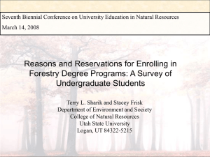 Reasons and Reservations for Enrolling in Undergraduate Students
