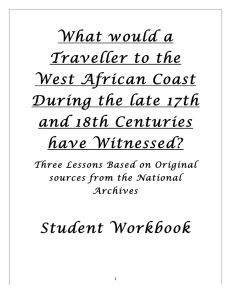 What would a Traveller to the West African Coast During the late 17th