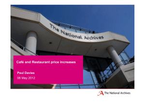 Café and Restaurant price increases Paul Davies 08 May 2012