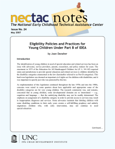 notes nec tac The National Early Childhood Technical Assistance Center