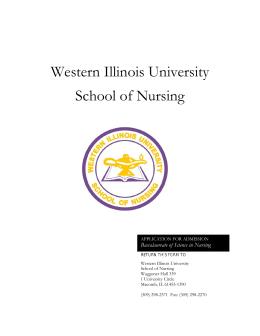 Western Illinois University School of Nursing Baccalaureate of Science in Nursing