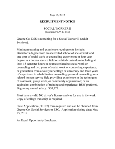 RECRUITMENT NOTICE  SOCIAL WORKER II
