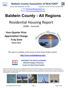 Residential Housing Report Baldwin County - All Regions Four-Quarter Price