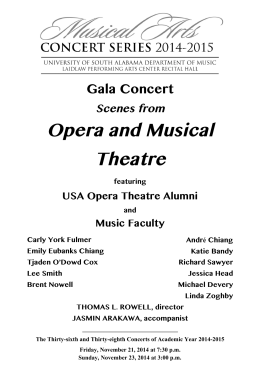 Opera and Musical Theatre Gala Concert Scenes from