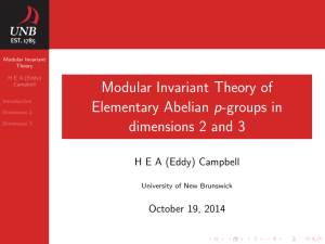 Modular Invariant Theory of Elementary Abelian p-groups in dimensions 2 and 3