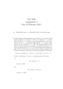 MA 2326 Assignment 3 Due 10 February 2015