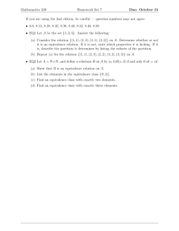 Mathematics 220 Homework Set 7 Due: October 31