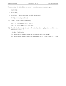 Mathematics 220 Homework Set 9 Due: November 21