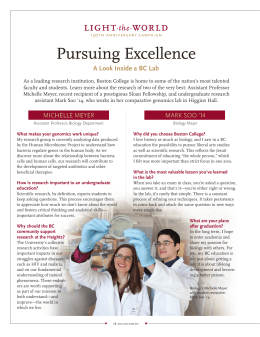 Pursuing Excellence A Look Inside a BC Lab