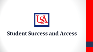 Student Success and Access