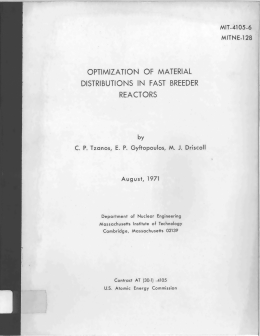 OPTIMIZATION  OF  MATERIAL REACTORS DISTRIBUTIONS  IN  FAST MIT-4105-6