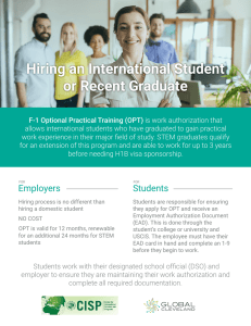 Hiring an International Student or Recent Graduate