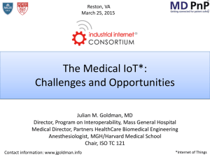 The Medical IoT*: Challenges and Opportunities