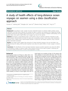 A study of health effects of long-distance ocean approach