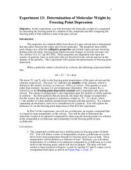 determination of molecular weight pdf