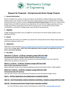 Request for Proposals - Entrepreneurial Senior Design Projects