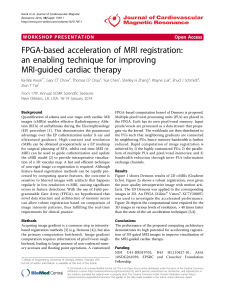 FPGA-based acceleration of MRI registration: an enabling technique for improving