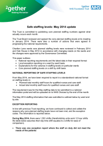 Safe staffing levels: May 2014 update