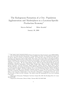 The Endogenous Formation of a City: Population Production Economy