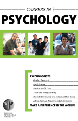 psychology in todays society essay
