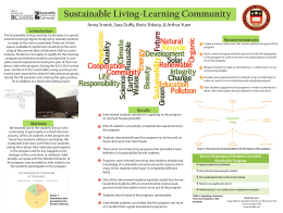 Sustainable Living-Learning Community Introduction