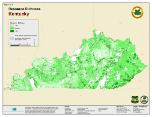 Kentucky Resource Richness Map 4 of 7 OH