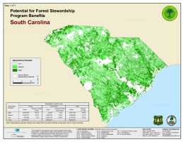 ³ South Carolina Potential for Forest Stewardship Program Benefits