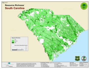 South Carolina Resource Richness Map 4 of 7 *
