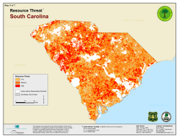 ³ South Carolina Resource Threat Map 5 of 7