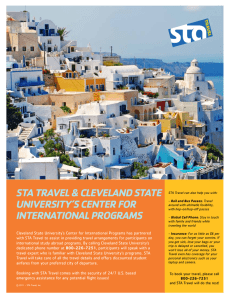 STA TRAVEL & CLEVELAND STATE UNIVERSITY'S CENTER FOR INTERNATIONAL PROGRAMS