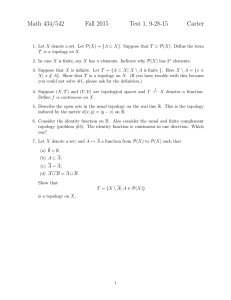 Math 434/542 Fall 2015 Test 1, 9-28-15 Carter