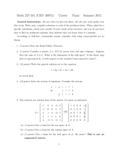 Math 237-101 (CRN 30074) Carter Final Summer 2015