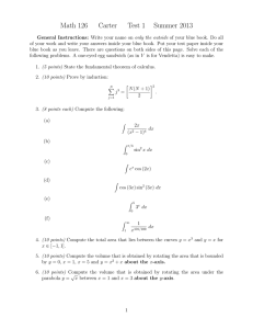 Math 126 Carter Test 1 Summer 2013