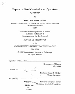 Gravity Topics  in  Semiclassical  and  Quantum