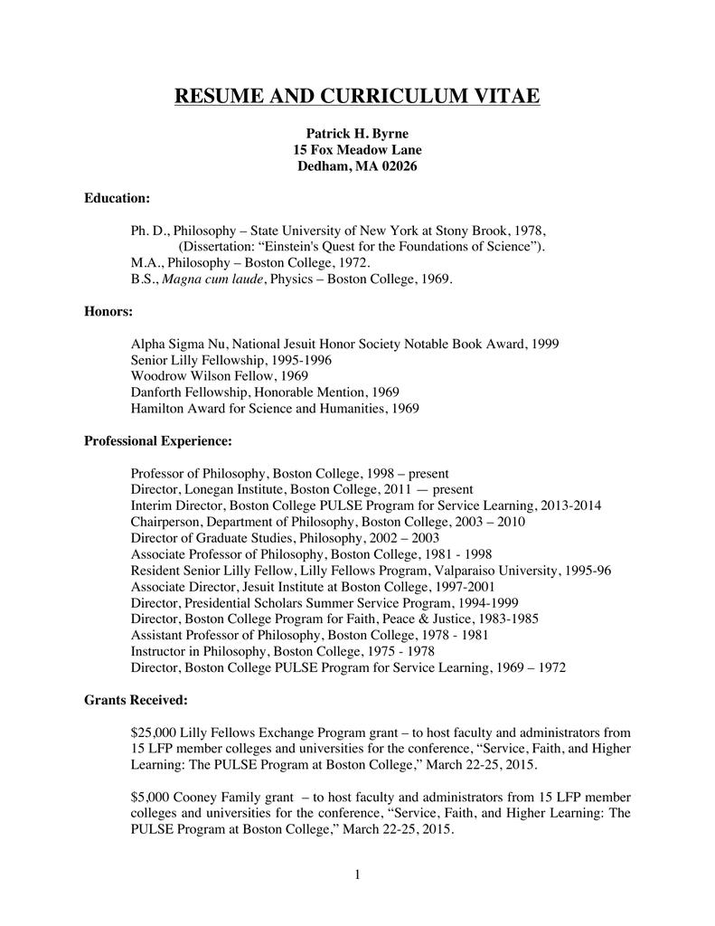 100 boston college resume free resume high