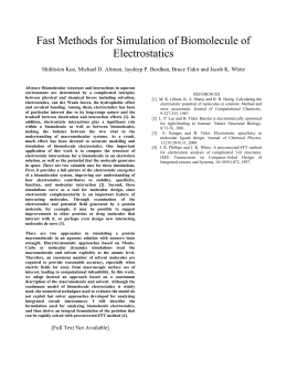 Fast Methods for Simulation of Biomolecule of Electrostatics