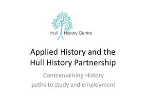 Applied History and the Hull History Partnership Contextualising History